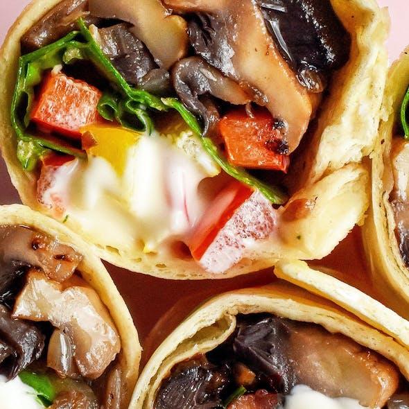 Vegan Garlic Mayo Mushroom Wraps image