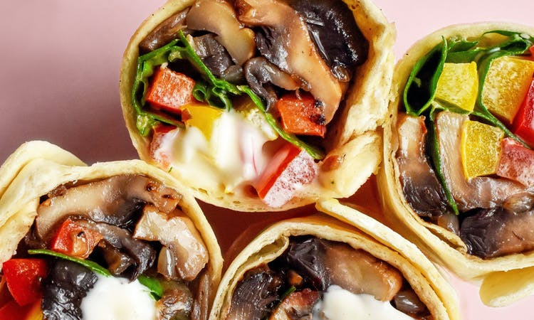 Vegan Lunchtime Wrap Recipes image
