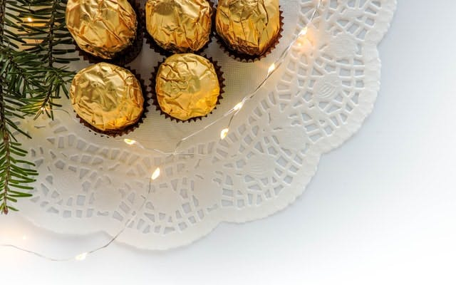 forrero rocher on a plate