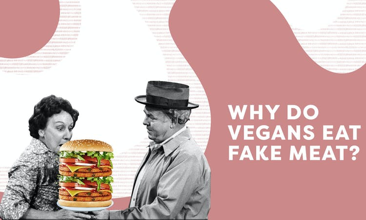 why do vegans eat meat text graphic image
