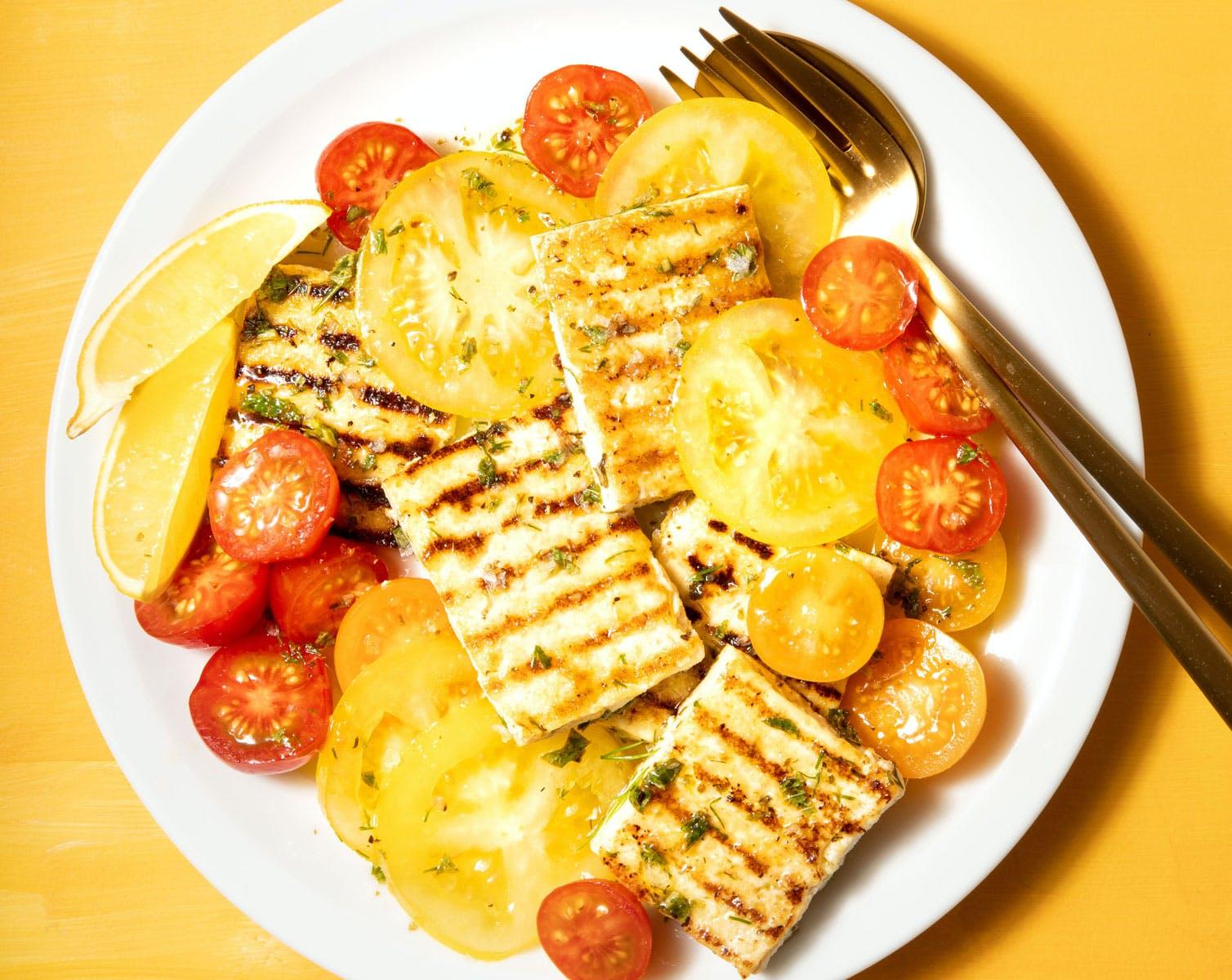 tomatoes and tofu