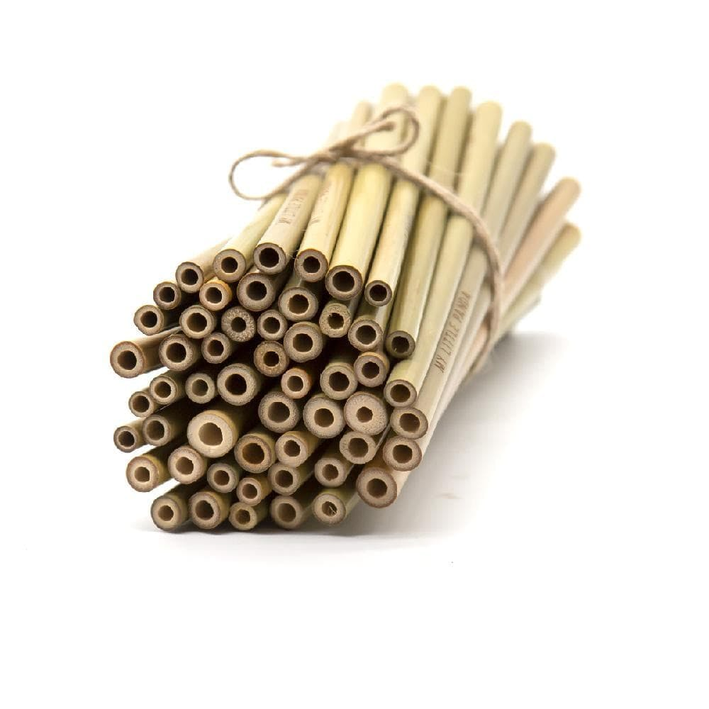 lots of bamboo straws tied together