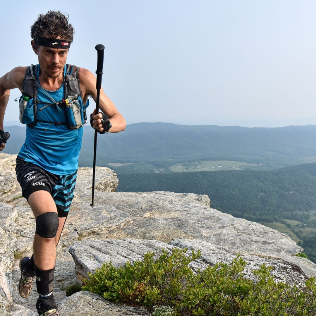 Scott Jurek mid run