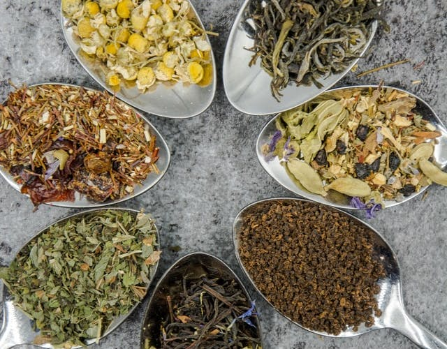 loose leaf tea selection