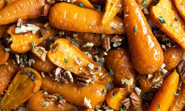 Maple and Ginger Roasted Carrots image