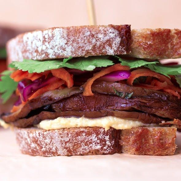 Mushroom and Pickled Veg Sandwich