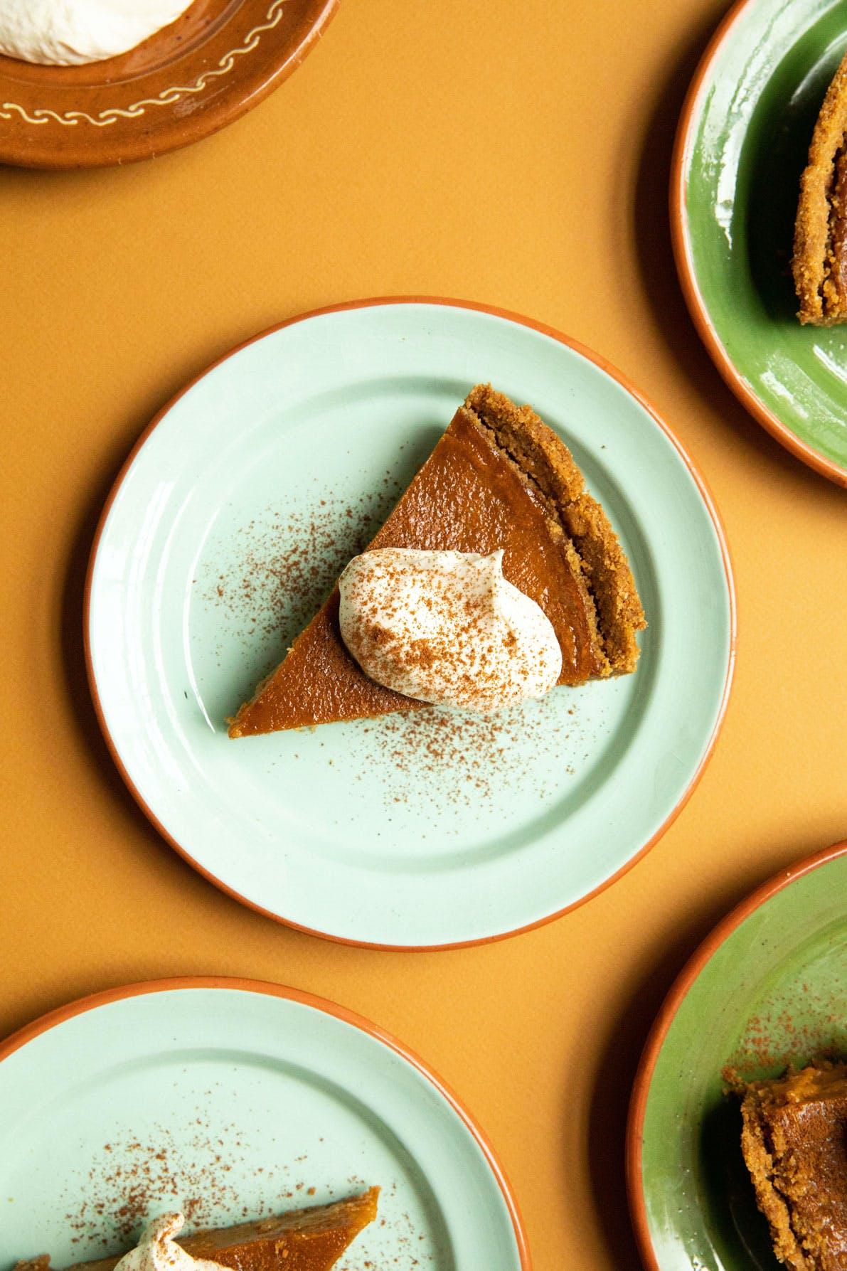 slice of val's pumpkin pie