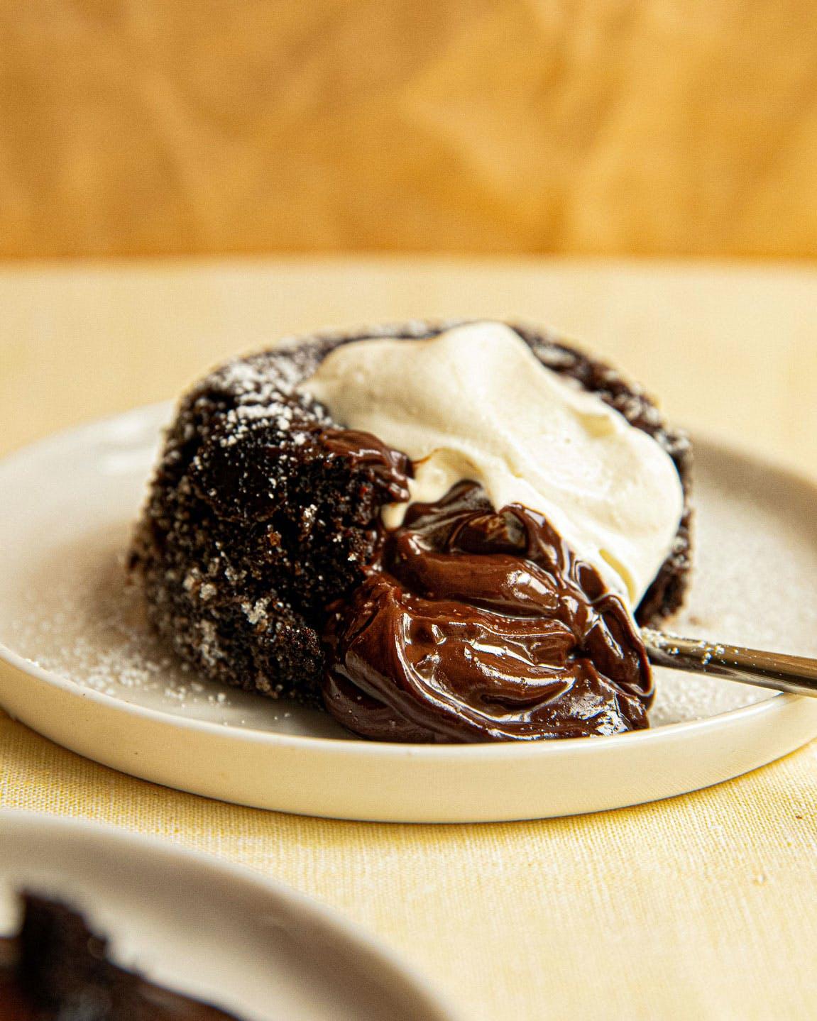 vegan chocolate fondant