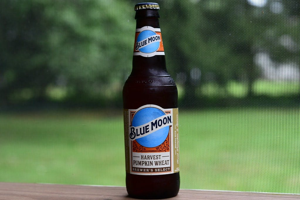 Bottle of Blue Moon Beer