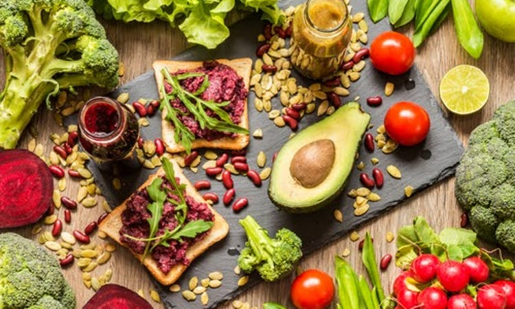 beetroot sandwich and other healthy vegan foods