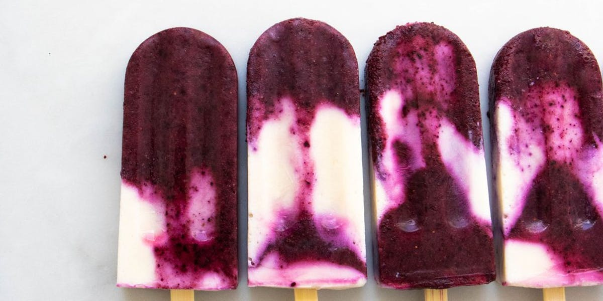 vegan blueberry ice lollies