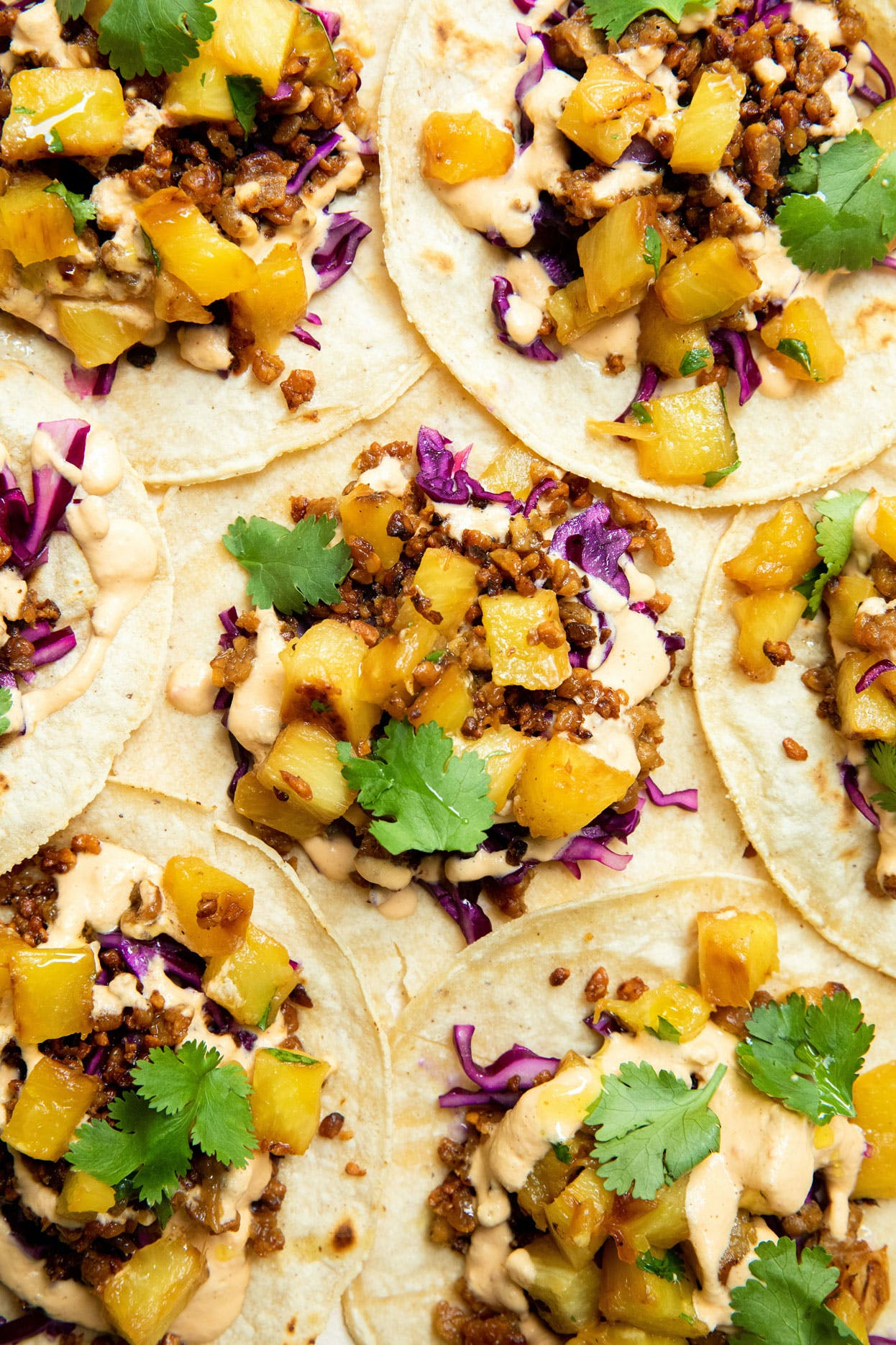 close shot of tacos
