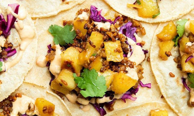 crispy tempeh vegan tacos