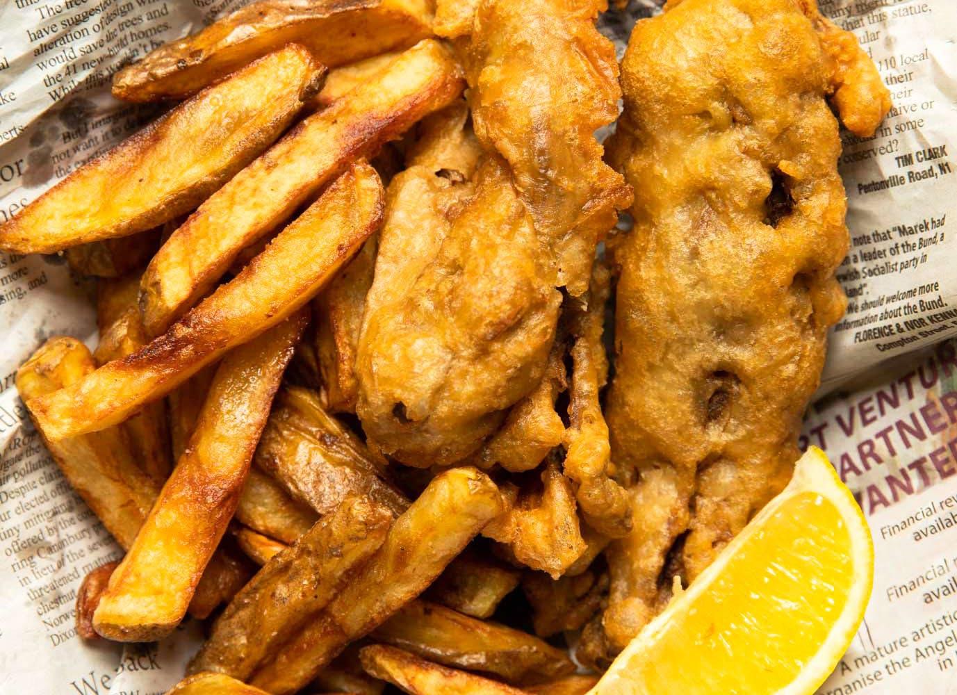 vegan fish and chips