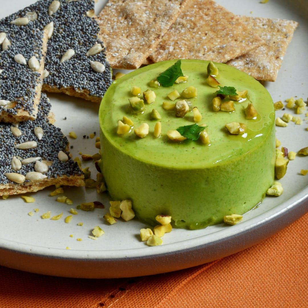 pistachio pate on plate
