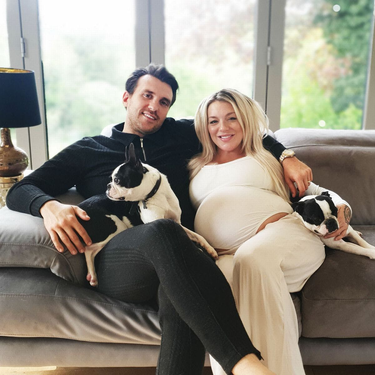 sheridan smith her partner and their dog
