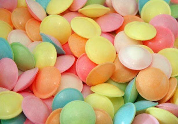 flying saucer sweets macro