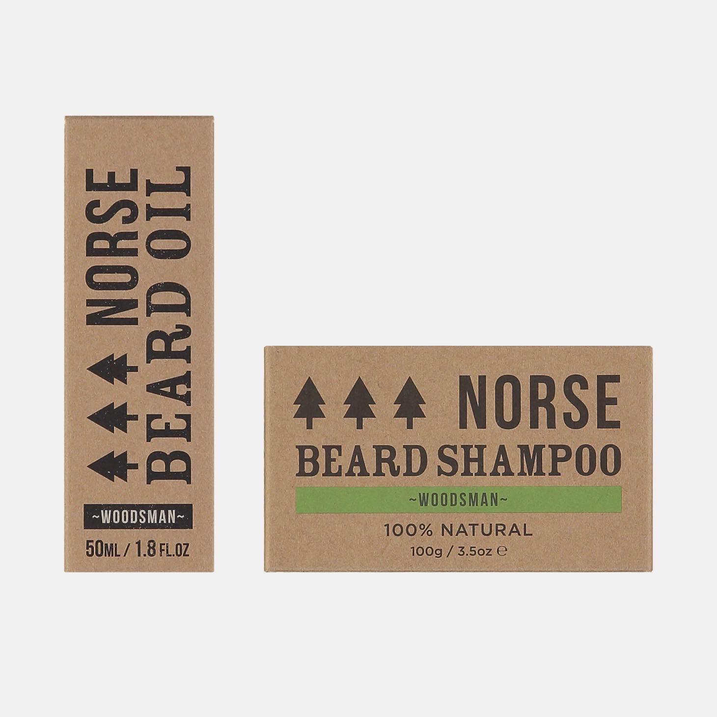 beard oil and shampoo