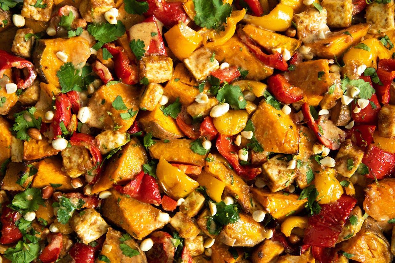 roasted veg on tray