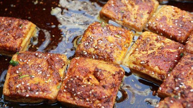 stinky tofu in oil