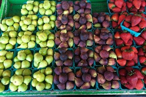 fresh fruit in aisle