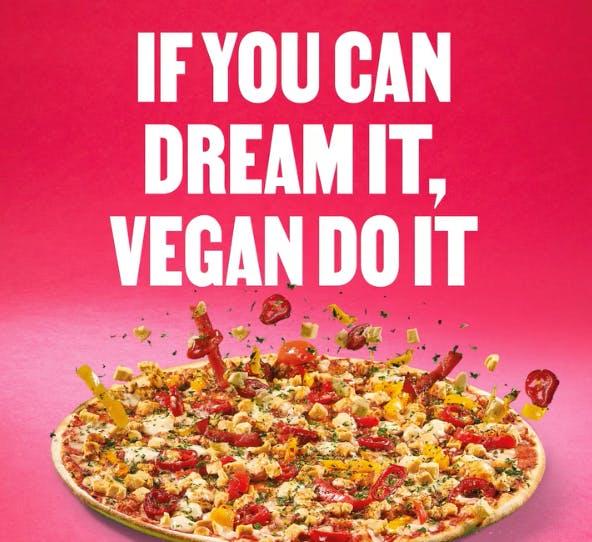 vegan pizza express ad