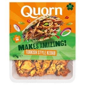 Quorn kebab strips