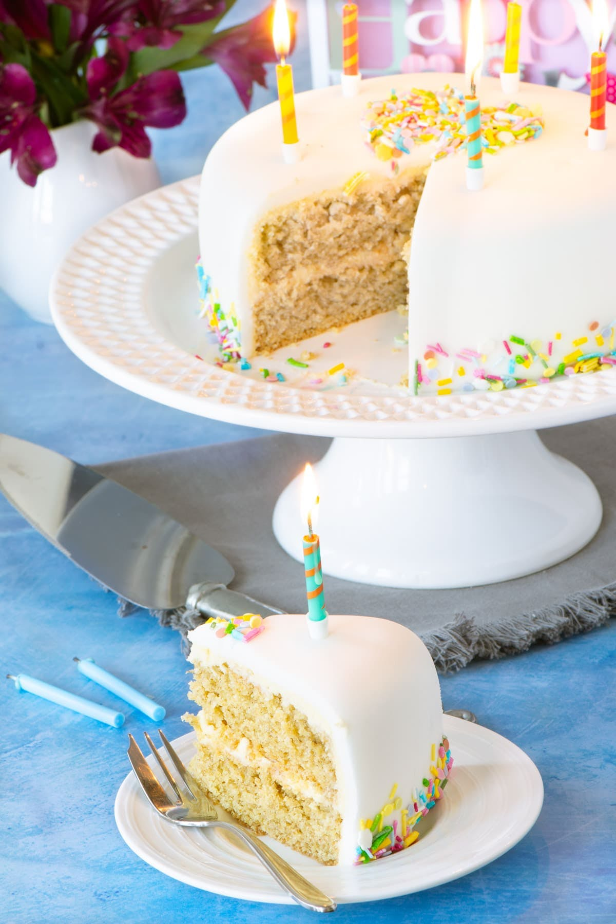 cake with a chia egg