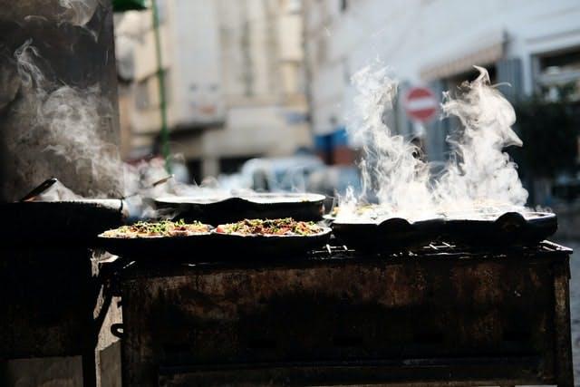 steaming street food