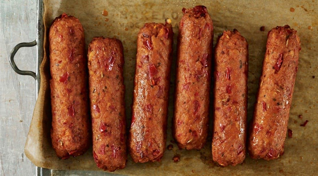 veggie sausages