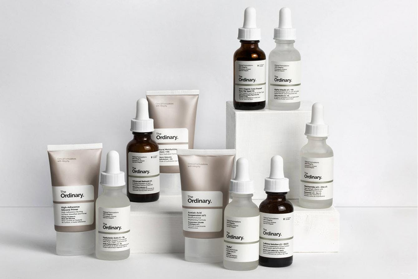Bottles of the Ordinary on white background