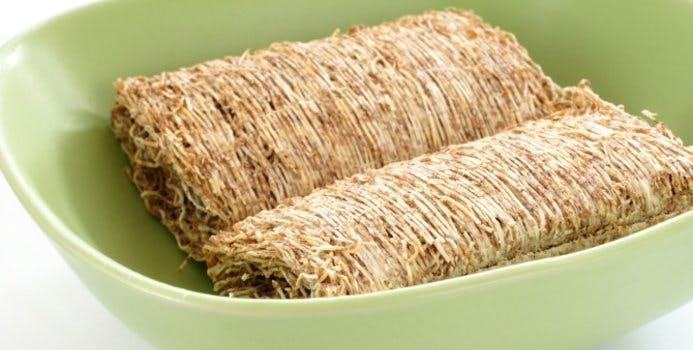 Shredded Wheat in a bowl