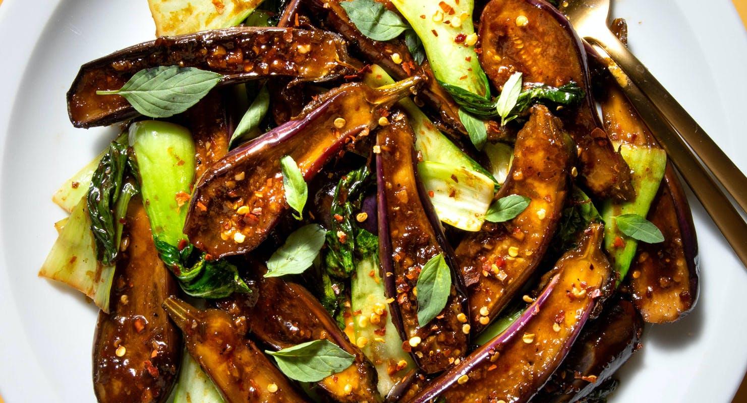 aubergine stir fry