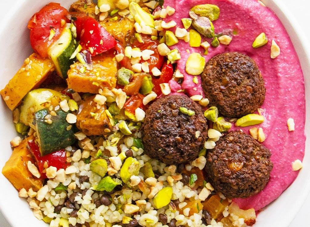 rainbow falafel mezze