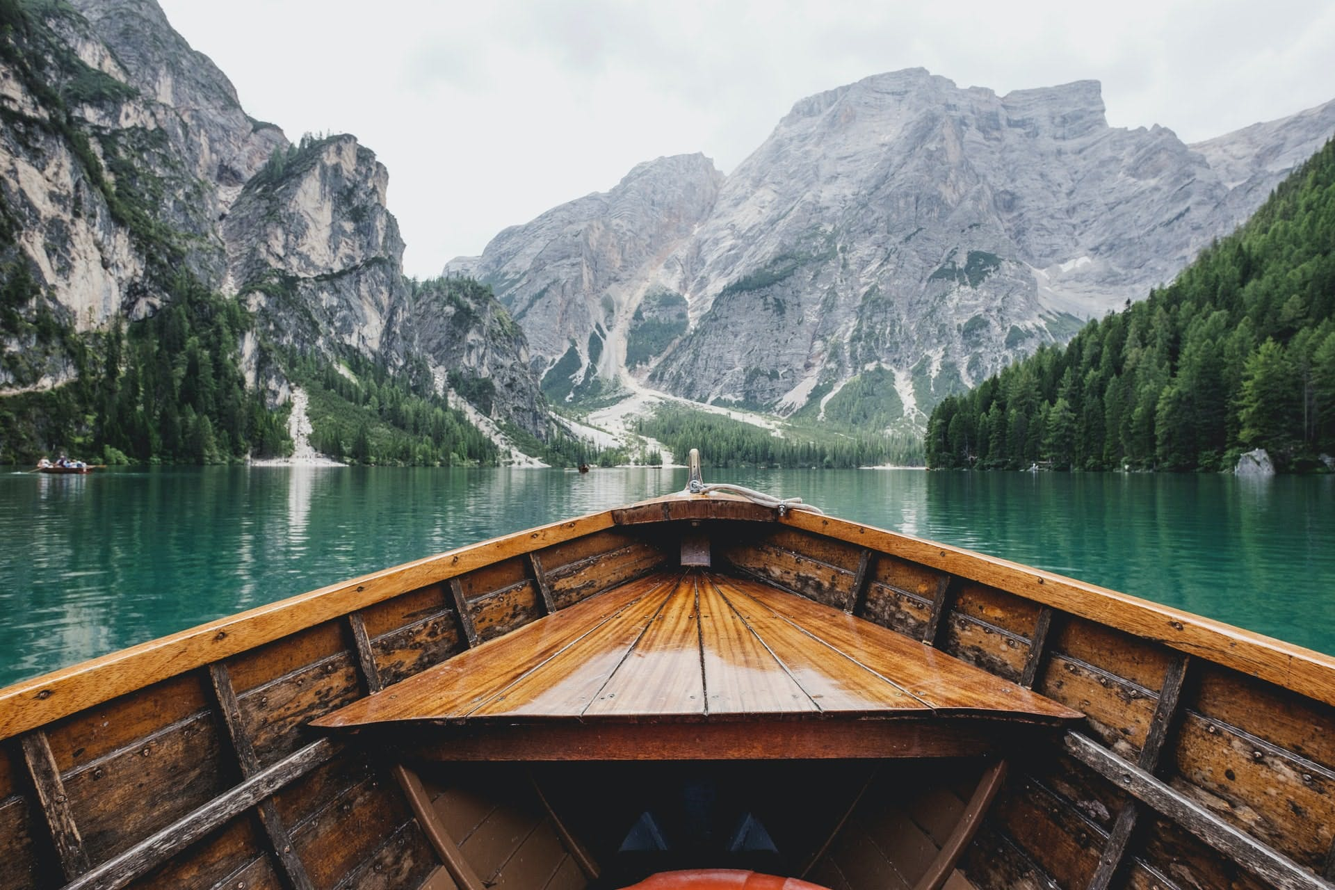 boat in lake, italy