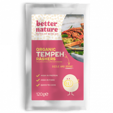better nature vegan tempeh bacon