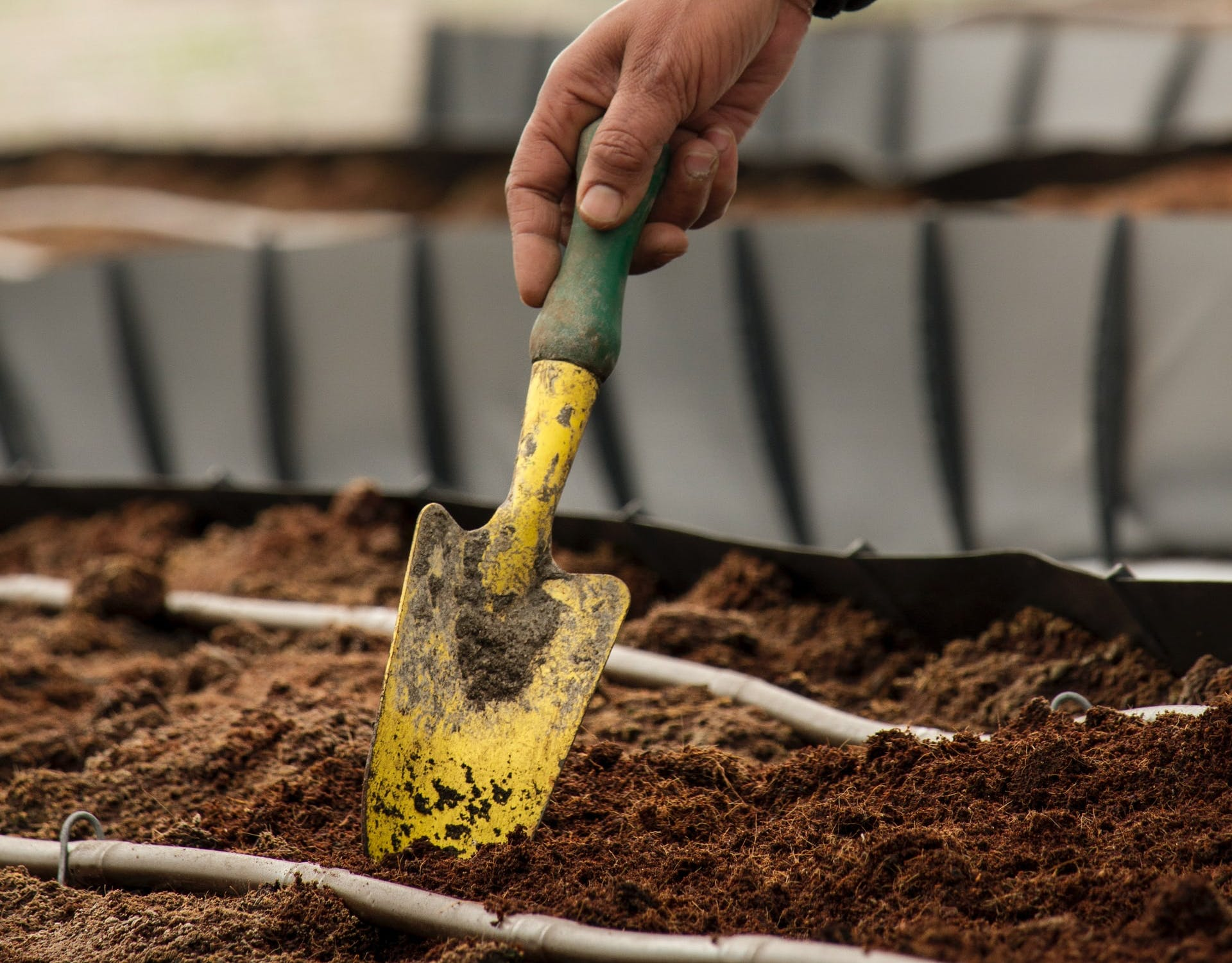 soil and a spade