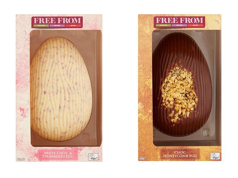 2 chocolate eggs