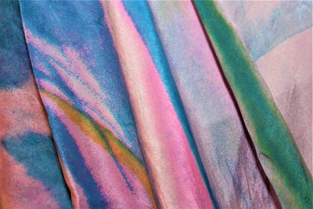 rainbow polyester fabric