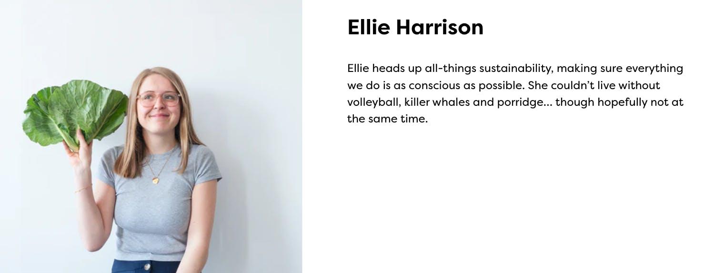 Ellie Harrison image and bio