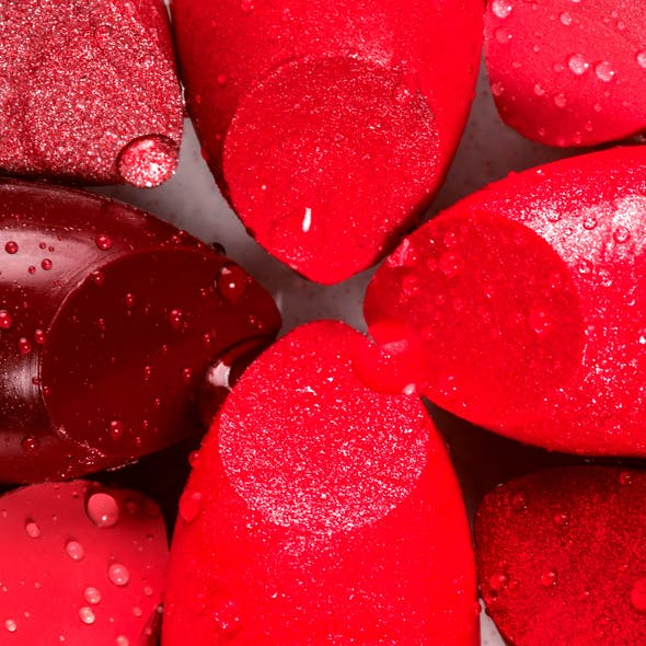 red lipsticks close-up