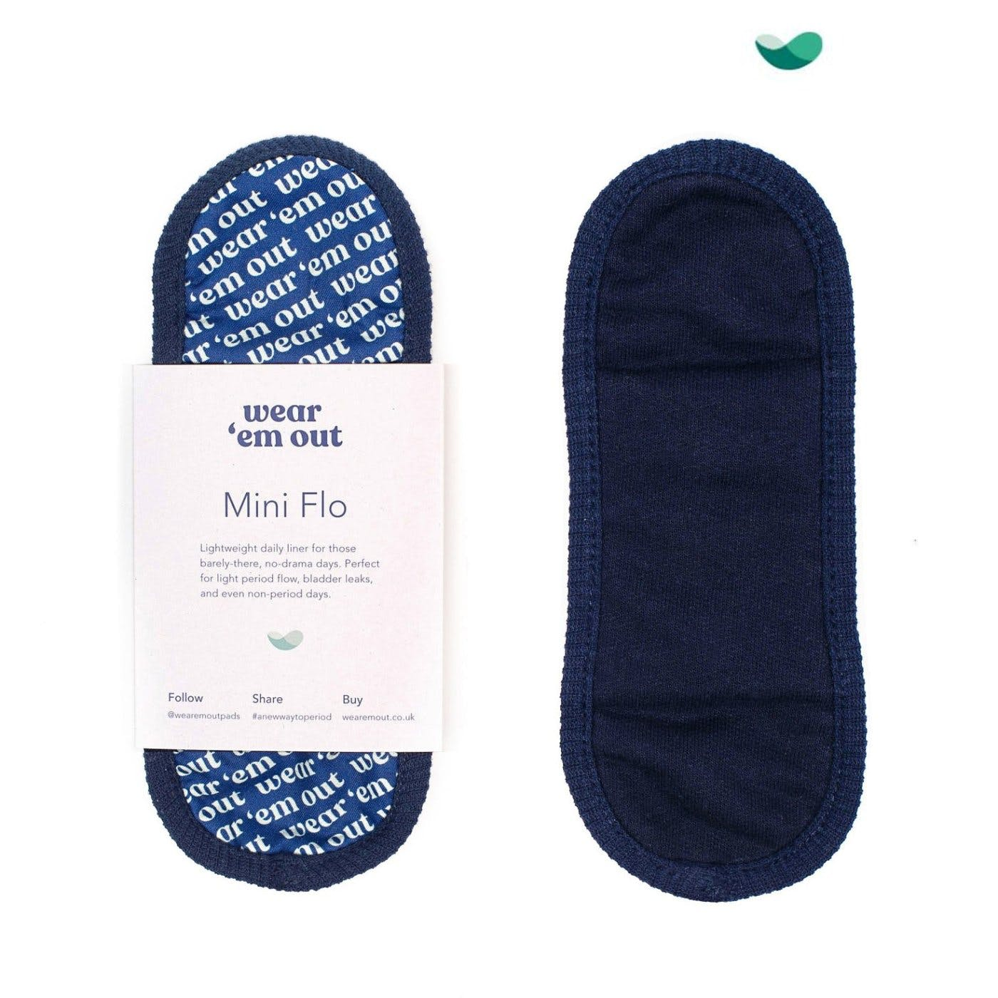 picture of front and back of reusable pad
