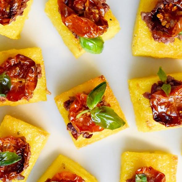 Crispy polenta bites