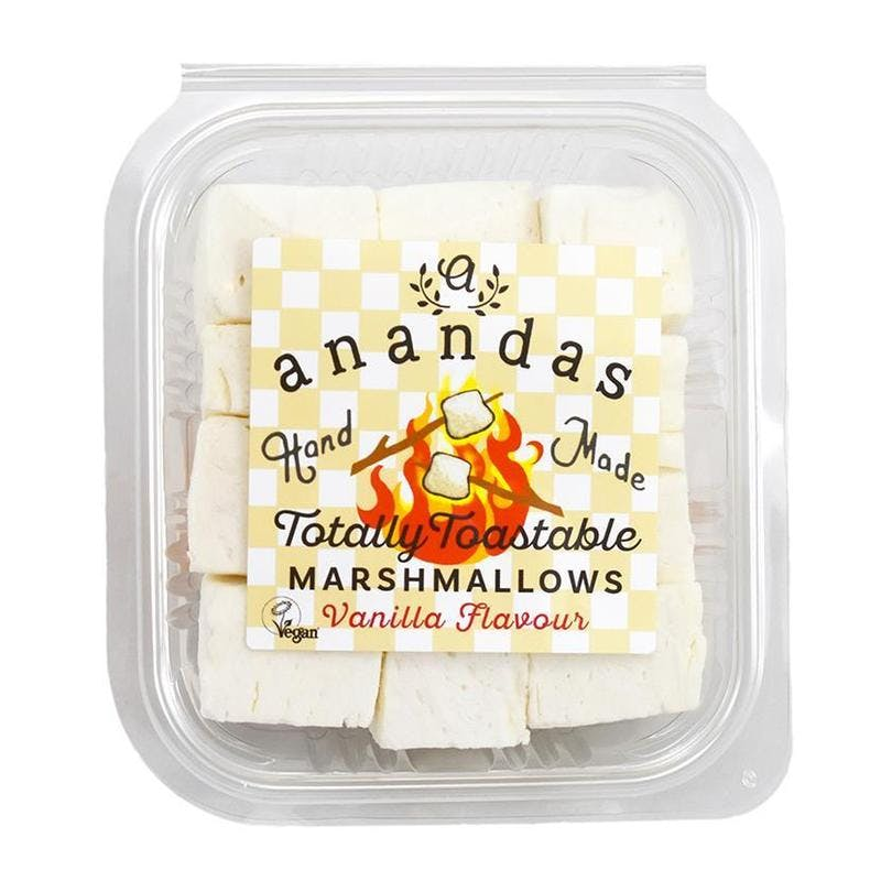 marshmallows in a clear plastic box