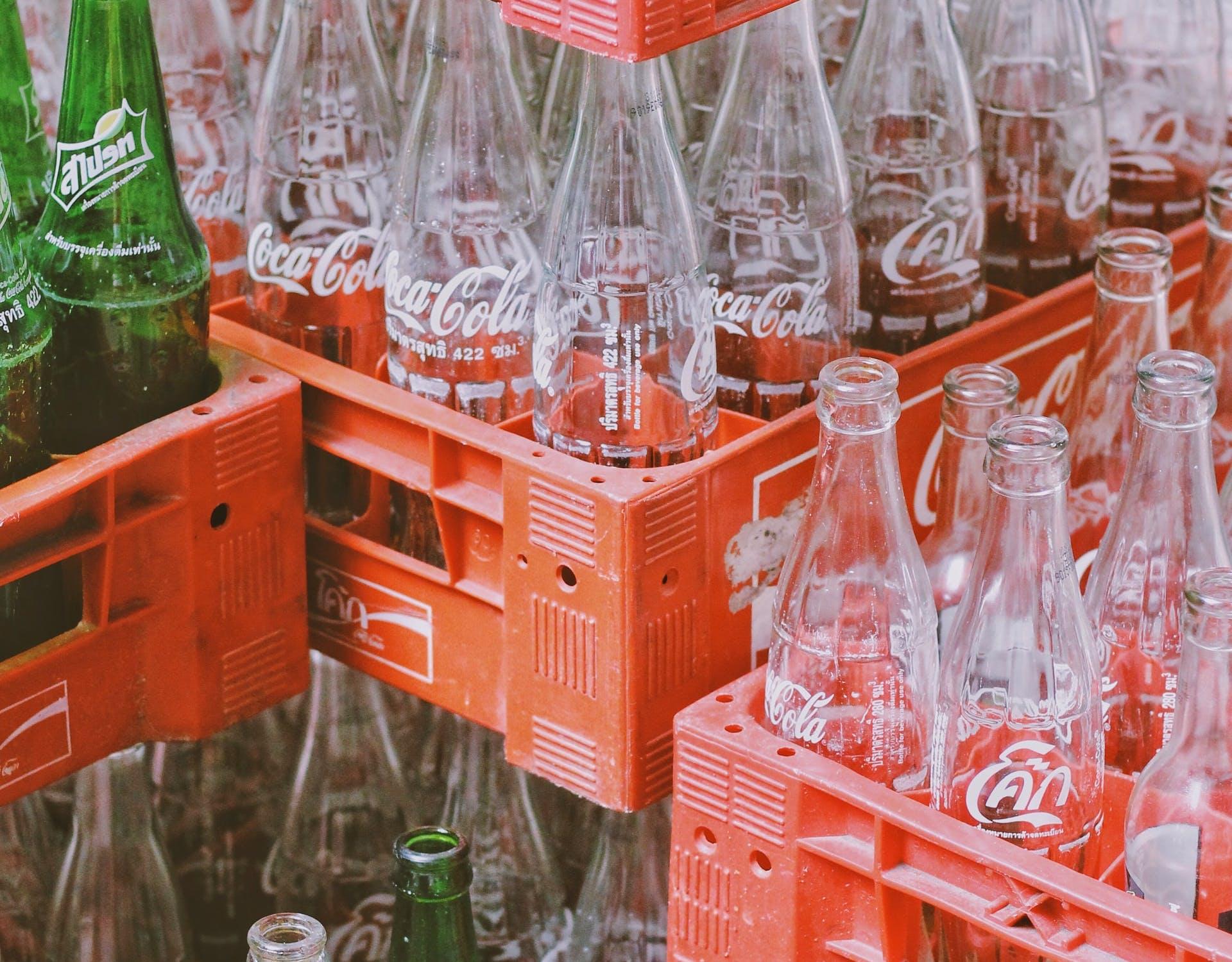 empty coke bottles