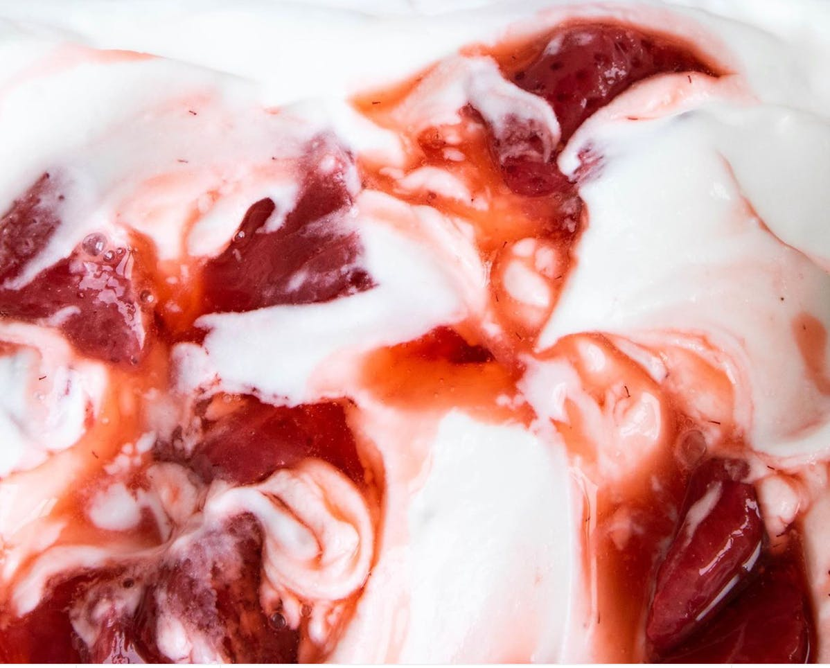 strawberries and cream swirl
