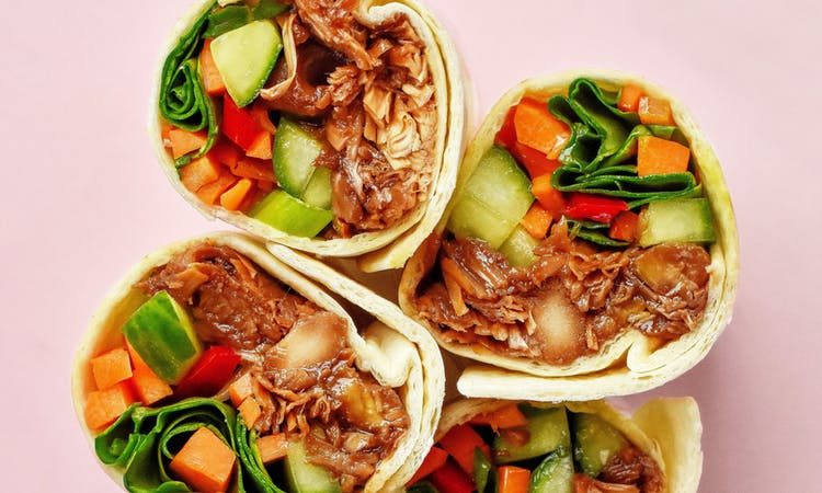 Vegan Jackfruit Adobo Wraps image