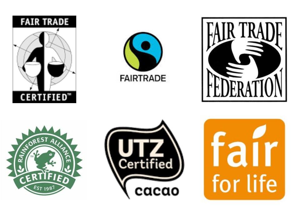 fairtrade badges chocolate cocoa cacao