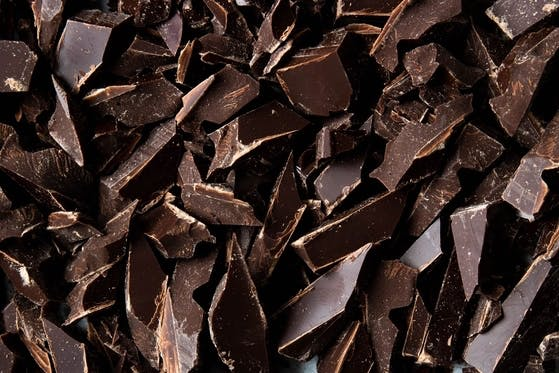 pieces of dark vegan chocolate