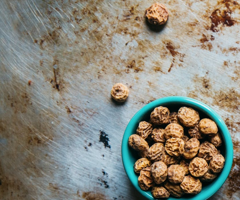 a bowl of tiger nuts